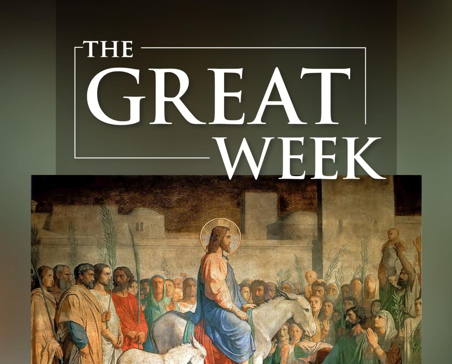 the great week, bishop barres, Holy Week virtual pilgrimage